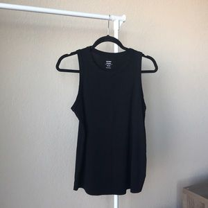 Old Navy classic high neck tank, size M, black.